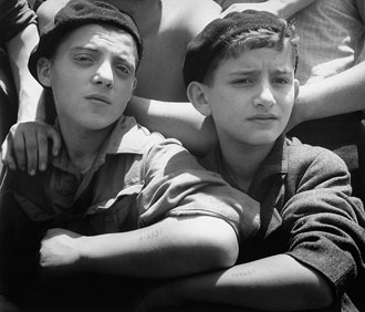 file:/activities/oralhistory/cappics/cohen1945a_boys, alt: Two young Jewish survivors of the Buchenwald concentration camp