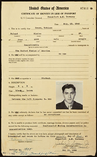 file:/activities/oralhistory/cappics/cohen1945a_id, alt: Certificate of Identity for Tobiasz Gross