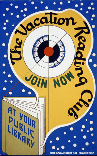 file:/activities/oralhistory/cappics/pryor1923_poster, alt: Poster that reads: The vacation reading club, join now at your public library.