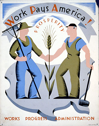 file:/activities/oralhistory/cappics/slater1924_wpa, alt: WPA poster showing farmer and factory worker